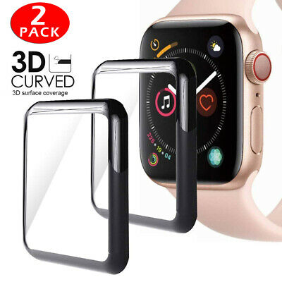 $ CDN2.28 • Buy For Apple Watch 5 40/44mm  FULL COVER 3D Edge Tempered Glass Screen Protector