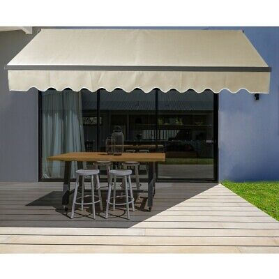 $ CDN388.06 • Buy ALEKO Black Frame Retractable Home Patio Canopy Awning 12 X 10 Ft Ivory Color