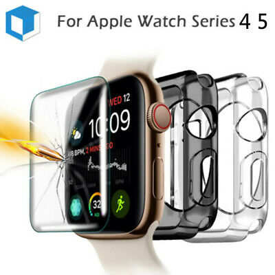$ CDN2.22 • Buy Apple Watch Serier 5 4 Soft Bumper Protector Case +Tempered Glass Screen Cover