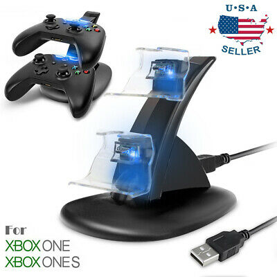 $9.99 • Buy LED Light Dual Controller Charging Dock Station Charger For Xbox One/Xbox One S
