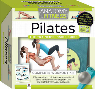 £19.98 • Buy Anatomy Of Fitness Pilates The Trainers Inside Guide Complete Workout Kit
