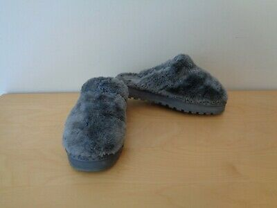 Skechers Gray Faux Fur Clogs Slip On Slippers Shoes Size 8 • 16.44£