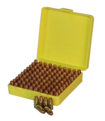 AU17.34 • Buy Max-Comp Ammo Box Sml Pistol 100Rnd Yellow Fits 9Mm Etc #ptab001 PTAB001