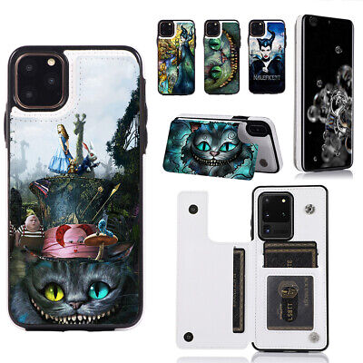 AU21.35 • Buy Alice In Wonderland Cheshire Cat Wallet Cover Phone Case Fit For Iphone Samsung