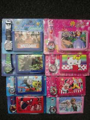 Children Character Watch Wallet Set Girls Boys Kids Party Gift Stocking • 4.99£