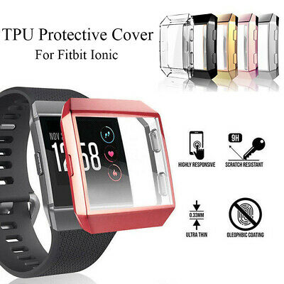 $ CDN4.75 • Buy TPU Shell Protective Case Watch Frame Screen Protector For Fitbit Ionic