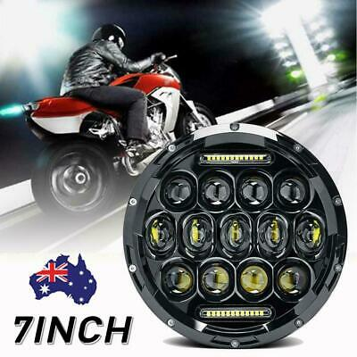 AU42.85 • Buy 7Inch LED Headlight Projector DRL Motorcycle For Harley Dyna Cafe Racer Bobber_
