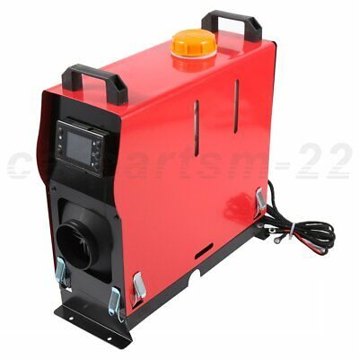$ CDN268.88 • Buy 5KW 12V Air Diesel Heater 1 Hole All In One LCD Monitor Red+Black For Bus Truck