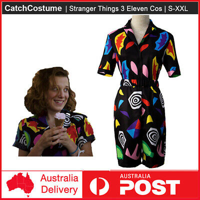 AU46.82 • Buy Stranger Things Season 3 Eleven Cosplay Costume Play Suit Dress Outfit Halloween