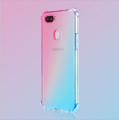 AU6.18 • Buy For Lot OPPO Shockproof Case Transparent Silicone Gradient Airbag TPU Cover