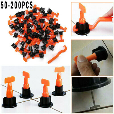 200Pcs Ceramic Floor Wall Construction Tool Reusable Tile Leveling System Kit UK • 10.44£