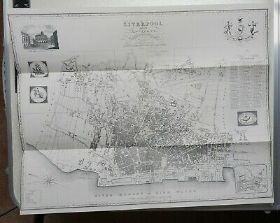 £17.50 • Buy 1824 Map Plan Of Liverpool And Its Environs - Reproduction 1969