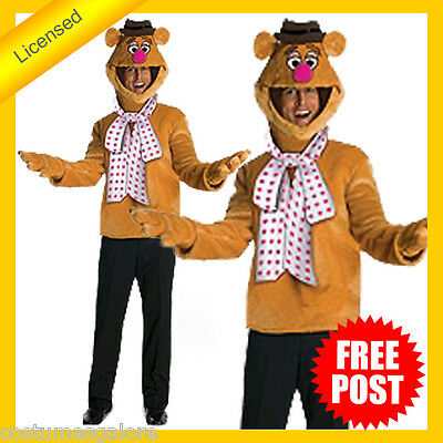 RUBIES Mens Costume Fancy Dress Licensed The Muppets Fozzie Bear Classic 880317 • 46.36£
