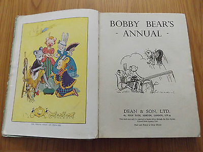 1943 BOBBY BEAR'S ANNUAL Harback Binding With Many B/w And Colour Illustrations • 4.99£