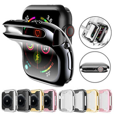 $ CDN4.91 • Buy For Apple Watch 5 4  Case TPU Bumper Full Cover Screen Protector IWatch 40/44mm