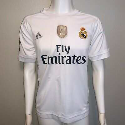 $15 • Buy ADIDAS REAL MADRID 2015/16 HOME SOCCER JERSEY Men's Large