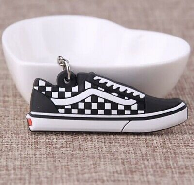 £3.49 • Buy *UK* Vans Checkered Silicon Keyring/ Keychain Casual Shoes Unisex Trainers White