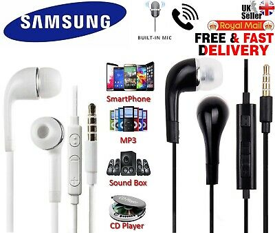 In Ear Handsfree Stereo Headphone Earphones With Mic For Samsung Android Mobiles • 2.48£