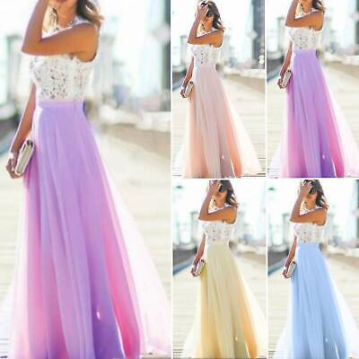 AU16.14 • Buy Women Lace Formal Dress Wedding Evening Ball Gown Party Cocktail Bridesmaid Prom