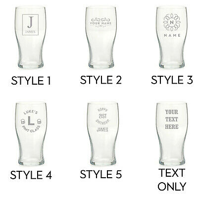 Personalised Engraved Pint Glass Fathers Day Birthday Best Man Usher Stag Party • 6.99£