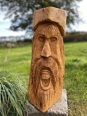 Chainsaw Carved Wood Spirit Carving Fantasy Garden Fairy • 49.99£