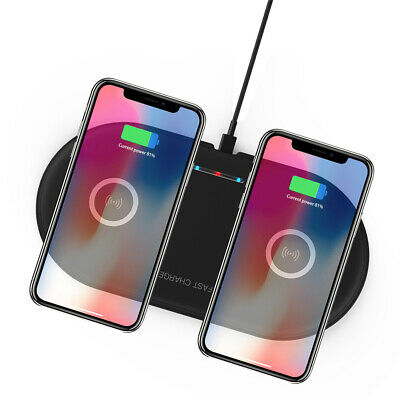 AU18.99 • Buy Dual Qi Wireless Charger Charging Mat Pad For IPhone 11 Pro Max XR Samsung S10 9