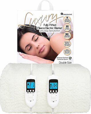£79.95 • Buy Homefront Double Electric Blanket Size Fitted Heated Washable Dual Controls