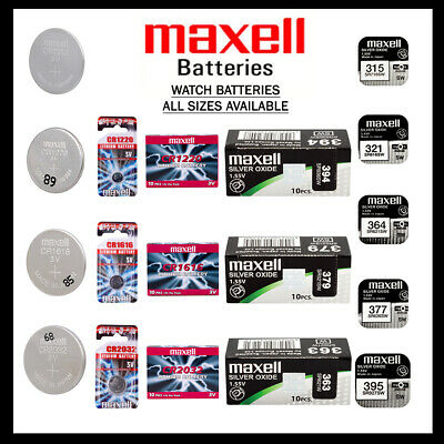 MAXELL BATTERY BATTERIES Silver Oxide 1.55v Lithium 3v All Sizes X 1 2 3 4 5 10 • 1.55£