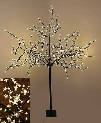 2MR Tall Led Blossom Tree Light Floor Lamp White Flower Petals Home Decoration • 67.49£