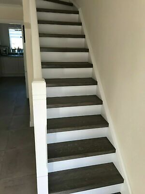 £948 • Buy Oak Stair Treads And Staircase Components - Grey