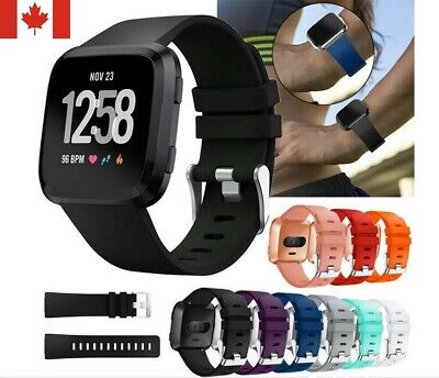 $ CDN8.50 • Buy New Silicone Sport Band Replacement Soft Bracelet Strap For Fitbit Versa S / L