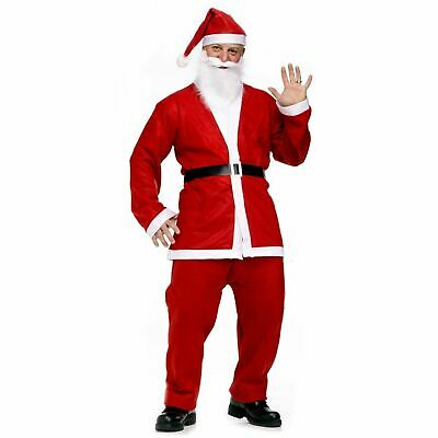 Mens Santa Claus Costume Father Christmas Suit Complete Fancy Dress Outfit Adult • 6.49£