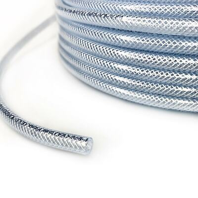 £1.29 • Buy  10mm Clear Braided PVC Hose Pipe Heavy Duty, Water, Airline,Compressor, Food