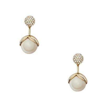 AU51.76 • Buy NWT KATE SPADE Pretty Pearly Earrings CREAM GOLD With Dust Bag O0RU1853