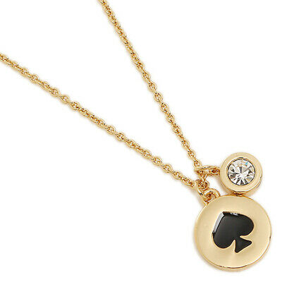 AU54.48 • Buy NWT KATE SPADE Necklace BLACK SPOT THE Spade O0RU1338
