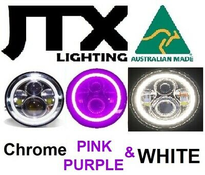 AU375 • Buy  7  LED Chrome Headlights PURPLE & WHITE Ford Bronco PickUp F100 F150 F250 F350