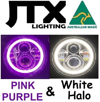 AU375 • Buy  7  LED Headlights PURPLE & WHITE Ford Bronco PickUp F100 F150 F250 F350