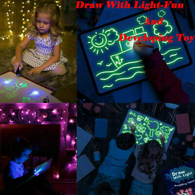 AU14.99 • Buy AU Draw With Light Fun And Developing Toy Drawing Board Magic Draw Educational