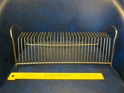 $29.99 • Buy Vintage Brass Wire 15  Record Holder Stand Mid Century Modern Metal Lps 45s MCM