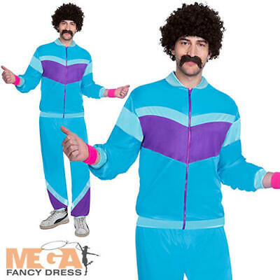 80s Shell Suit Mens Fancy Dress 1980s Scouser Tracksuit Adults Costume Outfit  • 17.49£