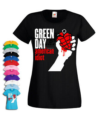 Green Day American Idiot T-shirt Womens Lady Fit Tshirt • 12.99£