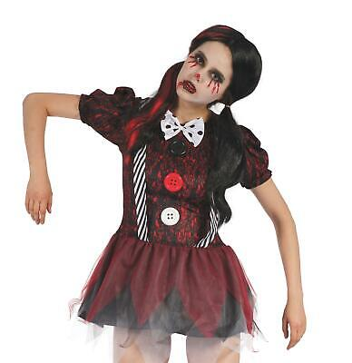 Womens Creepy Doll Costume Halloween Fancy Dress Outfit Size 10-14 • 15.99£