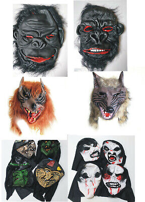 £8.99 • Buy Scary Halloween Mask Witch Zombie Wolf's Head Gorilla Evil Horror Masks