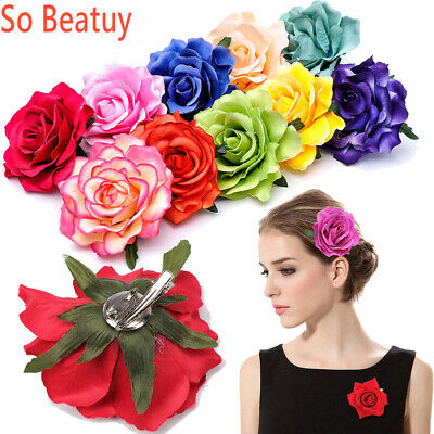 $0.76 • Buy Rose Flower Bridal Hair Clip Hairpin Brooch Wedding Bridesmaid Party Accesso Lot