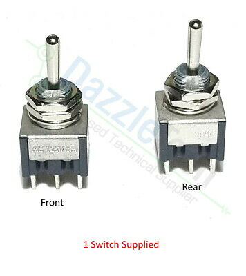 Miniature Toggle Switch DPDT On-off-on Centre Off PIC Model Railways X 1 Switch • 2.89£