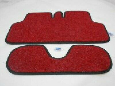 Vespa PX PE T5 Toolbox Glovebox Carpet Liner In Red With Black Trim 001167 • 22£