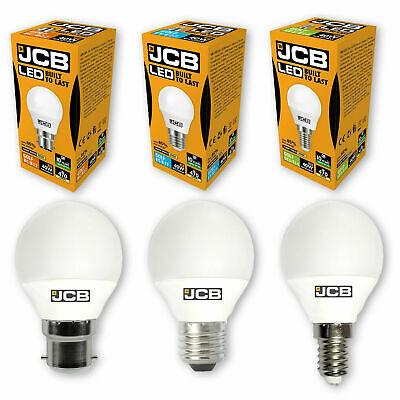 JCB LED Golf Ball Bulbs Round 6w=40w ES BC SES SBC Warm Cool Daylight White  • 4.47£