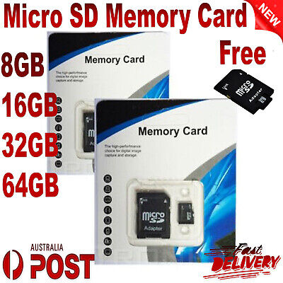 AU3.02 • Buy Micro SD Memory Card 8GB 16G 32G 64GB + Free SDXC MicroSD Card Adapter For DSLR