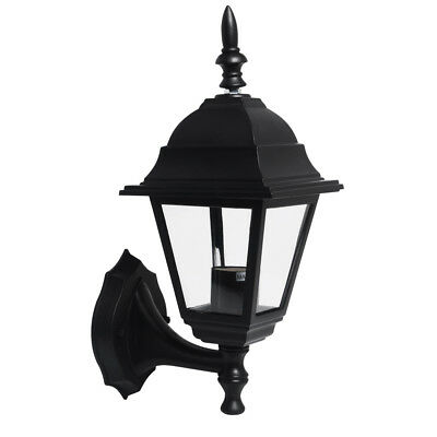 4-Sides LED Wall Lamp Lantern Outside Security Light Black Exterior Lantern Lamp • 10.59£
