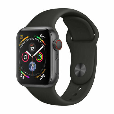 $ CDN363.36 • Buy Apple Watch Series 4 44mm GPS + Cellular 4G LTE - Space Gray - Black Sport Band